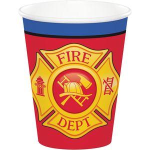 8 Papp Becher Feuerwehr Alarm – Bild 1