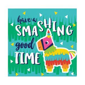 16 kleine Servietten Fiesta Fun - have a smashing good time – Bild 1