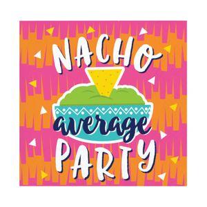 16 kleine Servietten Fiesta Fun - Nacho average Party – Bild 1
