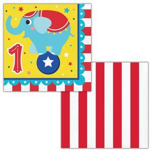 16 Servietten Zirkus Party - zum 1.Geburtstag – Bild 2