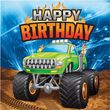 16 Geburtstags Servietten Monster Truck Rallye