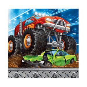 16 kleine Servietten Monster Truck Rallye  – Bild 1