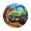 8 kleine Papp Teller Monster Truck Rallye