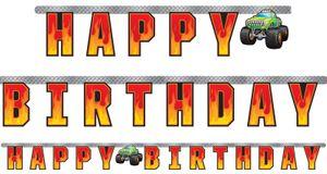 Geburtstags Girlande Monster Truck Rallye – Bild 1