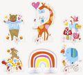 6 Teile Tischaufsteller Set Baby Zoo für die Babyparty