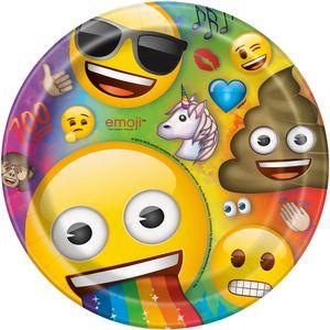 8 Papp Teller Emoji Regenbogen – Bild 1