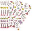 6 Sticker Bogen Beauty Spa mit Glitzer