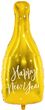 XXL Silvester Folien Ballon Champagner Flasche Happy New Year 82cm