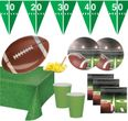 XXL 71 Teile American Football Superbowl Party Deko Set 16 Personen