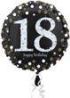 Folien Ballon Glitzerndes Gold und Silber zum 18. Geburtstag