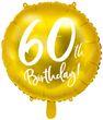 Folien Ballon zum 60. Geburtstag in Gold Metallic