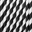 10 Papier Trinkhalme schwarz weiß gestreift