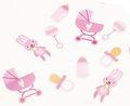 Baby Party Konfetti Mix mit Rosa Häschen