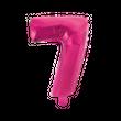 Kleiner Folienballon Zahl 7 Pink Metallic 40 cm