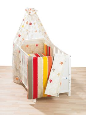 ALVI Bettwäsche 80 x 80 Stars und Stripes beige 272-6 online kaufen