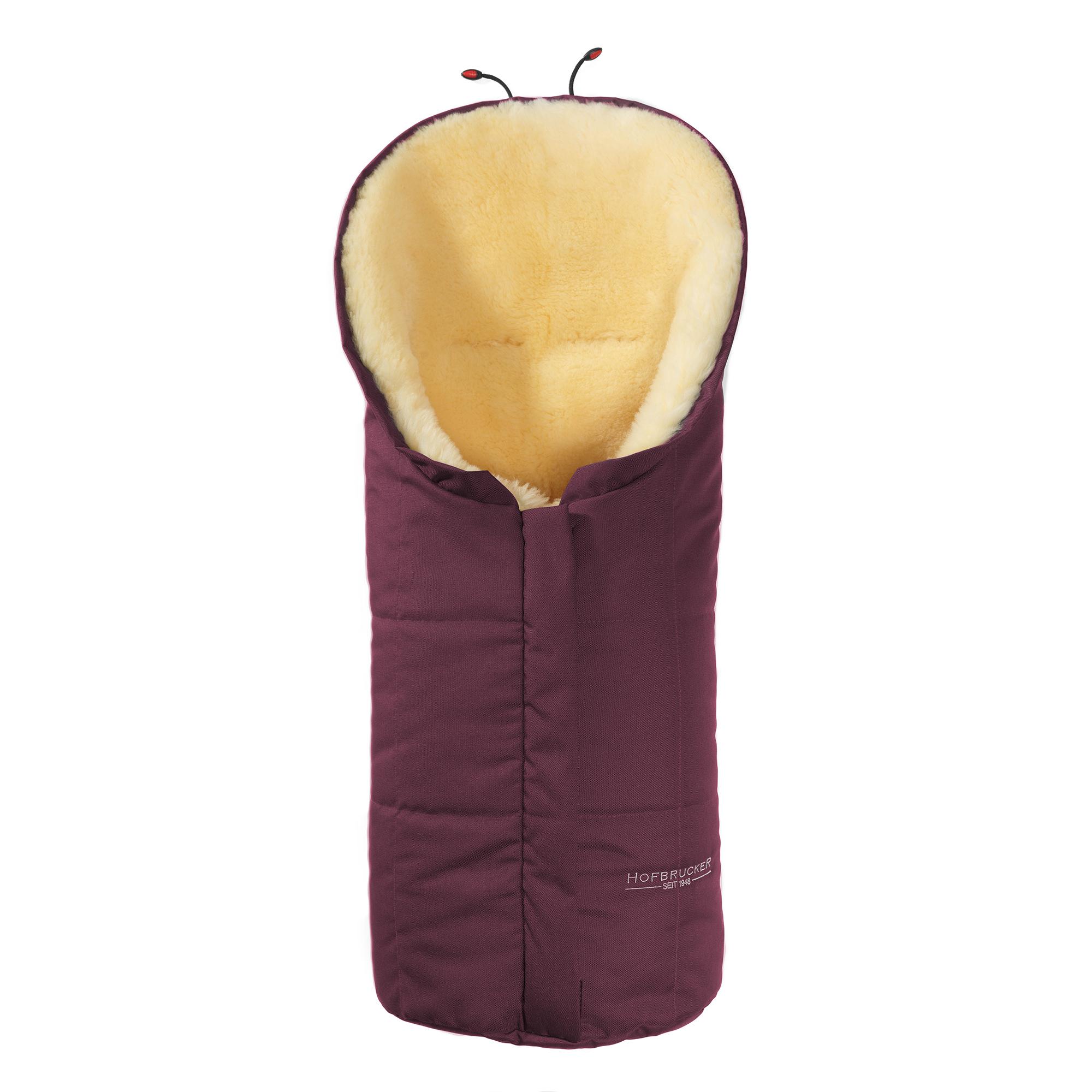 Hofbrucker Lammfell-Fußsack Eskimo für Babyschale, Kinderwagen und Buggy