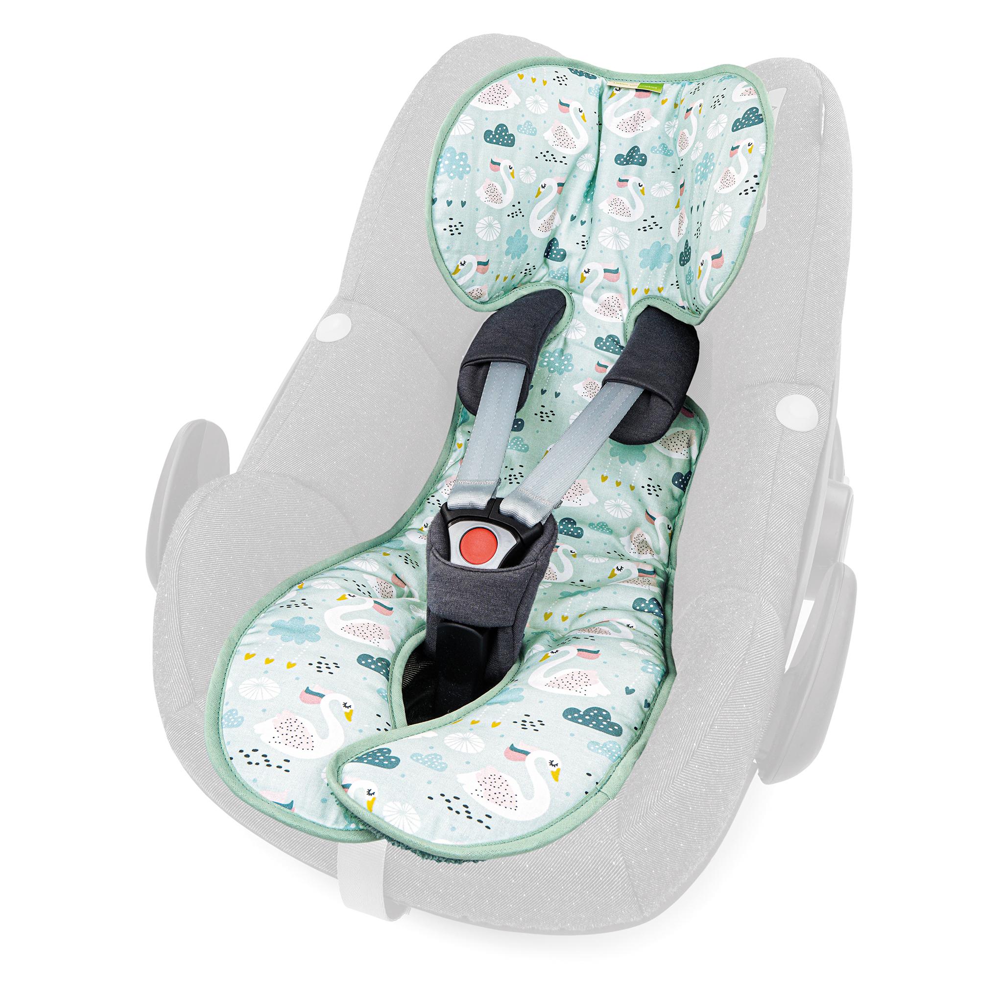 Priebes Sitzauflage Lola für Babyschalen Gruppe 0 mit Aussparung und Easy-out Gurtsystem