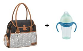 Babymoov Wickeltasche Style Bag black + Trinklernbecher blau 180 ml Exclusiv online kaufen