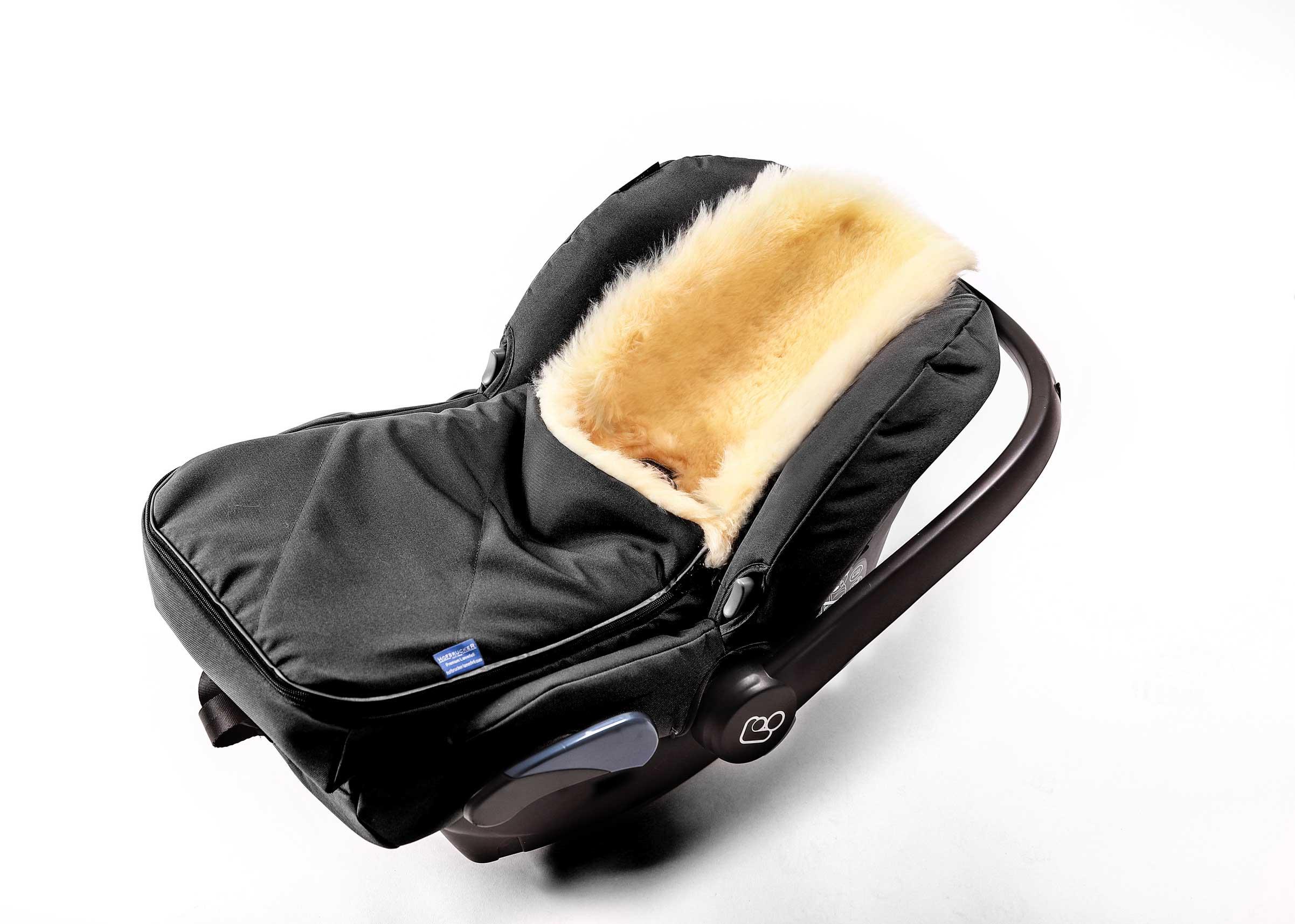 Hofbrucker Lammfell-Fußsack Maxi für Babyschale