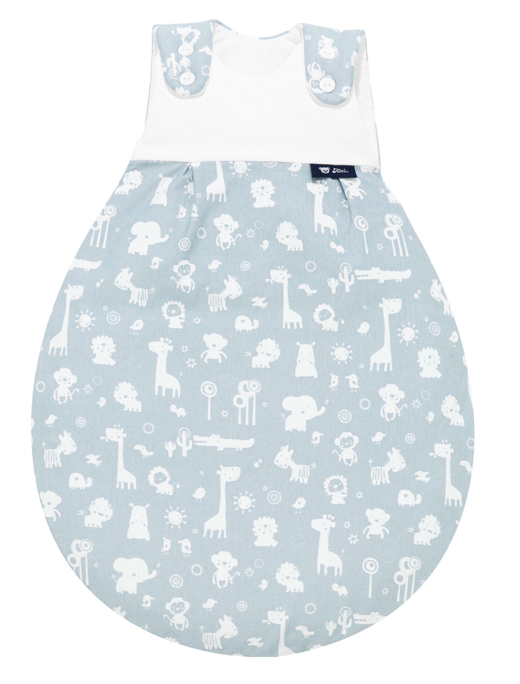 Alvi Baby Mäxchen Außensack Animals blau 911-1