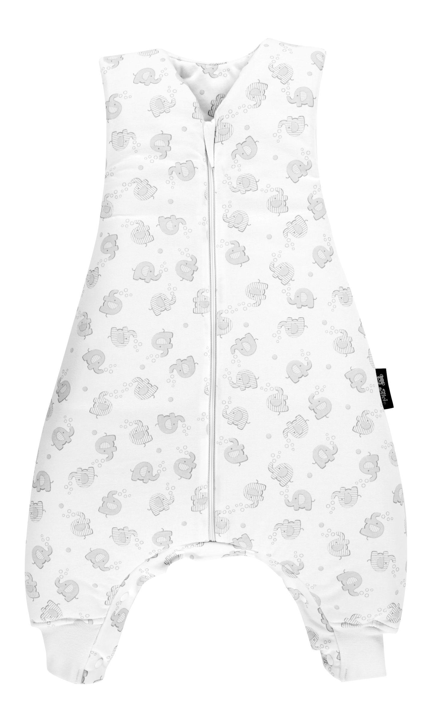 Gr/ö/ße:70 Alvi Schlafsack mit Beinen//Alvi Baby-Schlafsack Sleep-Walker mit F/ü/ßen//Kinderschlafsack mit Tencel klimaregulierend Design:Stars silber 100/% aus nachwachsenden Rohstoffen