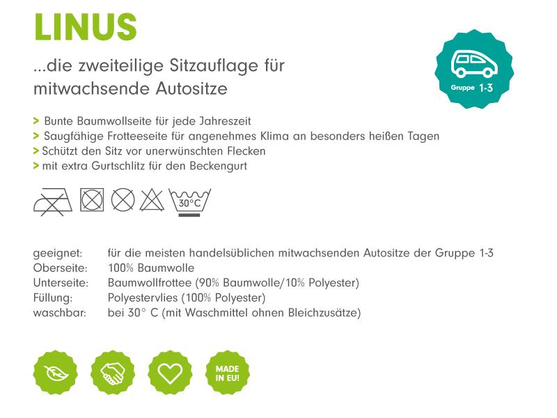 atmungsaktiver Schonbezug f/ür Kinderautositz Design:Schwalben grau Priebes Sitzauflage Linus f/ür Kindersitze der Gruppe 1-3 Sitzschutz f/ür Autositz waschbar