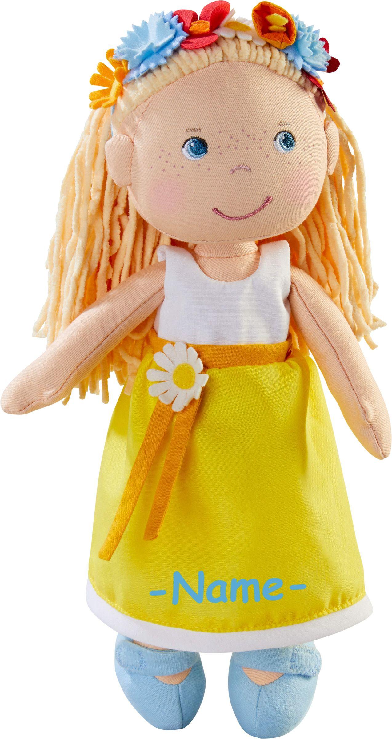 Haba Puppe Mädchen individuell bestickt mit Name