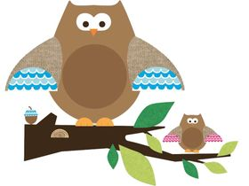 RoomMates Wandsticker Owl Branch one decor online kaufen