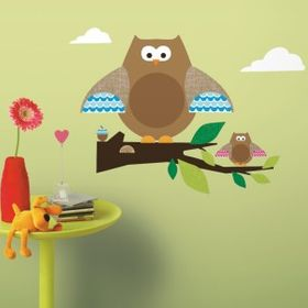 RoomMates Wandsticker Owl Branch one decor