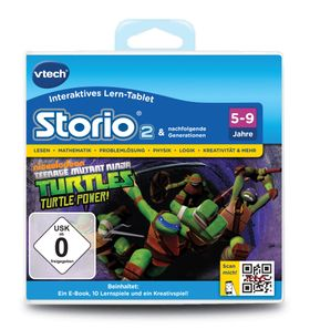 VTech Storio 2 Lernspiel Spielkassette Teenage Mutant Ninja Turtles