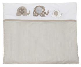 ALVI Wickelauflage + Bezug Elefant beige, 70 x 85 cm