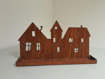 Edelrost-Dorf Silhouette – Bild 1