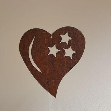 Herz mit Mond und Sternen