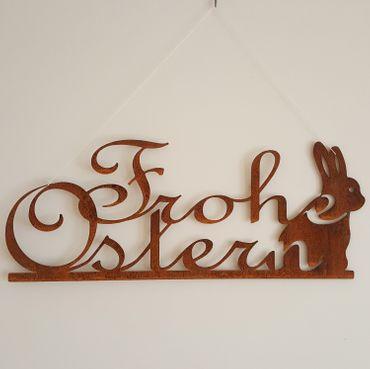 Frohe Ostern Schriftzug