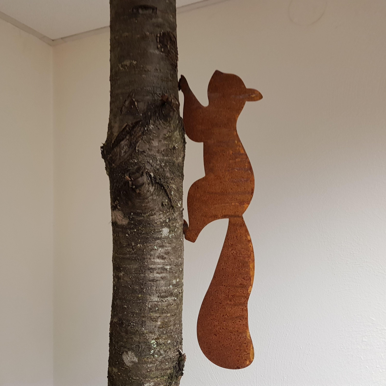 Edelrost Eichhörnchen Dekoration Garten Rost Deko Dekoration