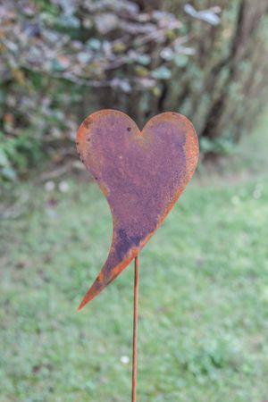 Herz geschwungen Gartenstecker – Bild 1