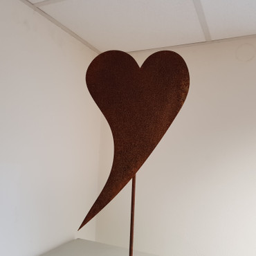 Herz geschwungen Gartenstecker – Bild 2