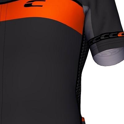 Radtrikot Design RSL Grau-Schwarz-Orange – Bild 4