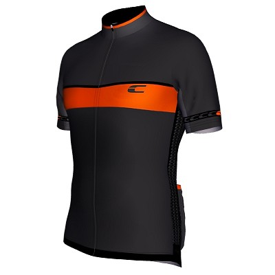 Radtrikot Design RSL Grau-Schwarz-Orange