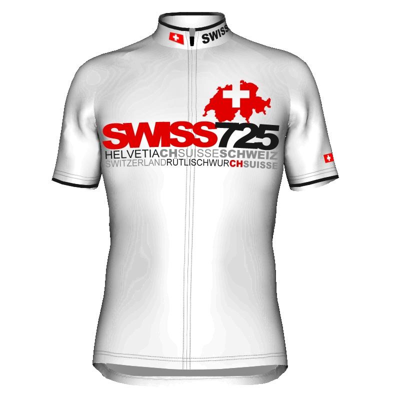 Radtrikot Design 725 Schweiz Switzerland