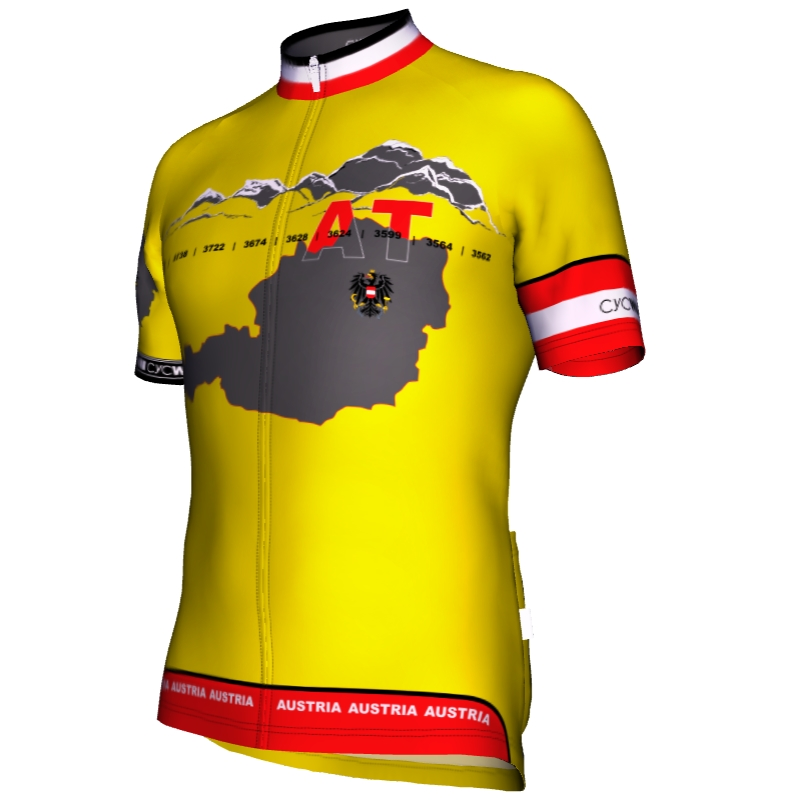 Radtrikot Austria Yellow Edition