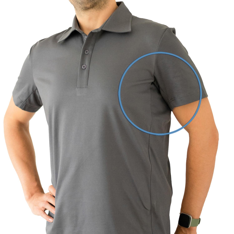 Polo - shirt funzionale da uomo contro la sudorazione ascellare