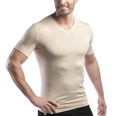 "<span style=""color: blue;"">SALE</span> - laulas [[EXTREME]] - functional-undershirt against underarm sweat - men – skin-colored"