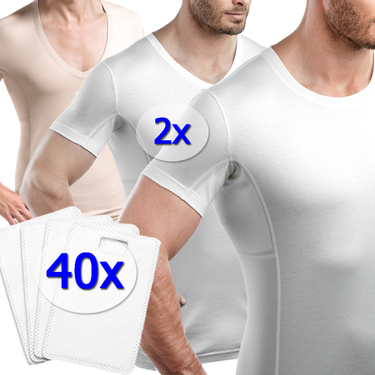 Starter Pack [[EXTREME]] men - 2 undershirts plus 40 absorbent pads at starter price