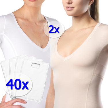 Starter Pack [[EXTREME]] Women's - 2 undershirts plus 40 absorbent pads at starter price