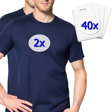 Startpaket - laulas Sommer T-Shirt - STANDARD - gegen Achselschweiss - verhindert sofort Ihre grossen Schweissflecken