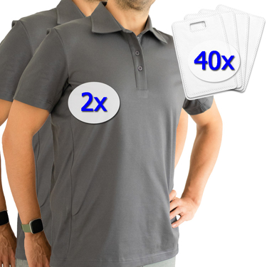 Polo-shirt fonctionnel laulas pour hommes contre la transpiration des aisselles