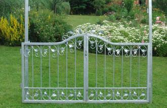 Gartentür Gartentor Pforte Monaco-GT140/100B Verzinkt – Bild 1