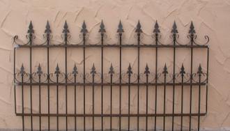 Schmiedeeisen Gartenzaun Metall Zaun  Roma-Z100/200 Roh Rost Antik Zaunelement – Bild 1