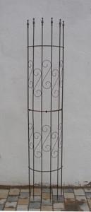 Rankgitter Spalier Rankhilfe Fallrohr  Pisa f. Clematis Roh Rost Rostig halbrund  Regenrohr – Bild 1